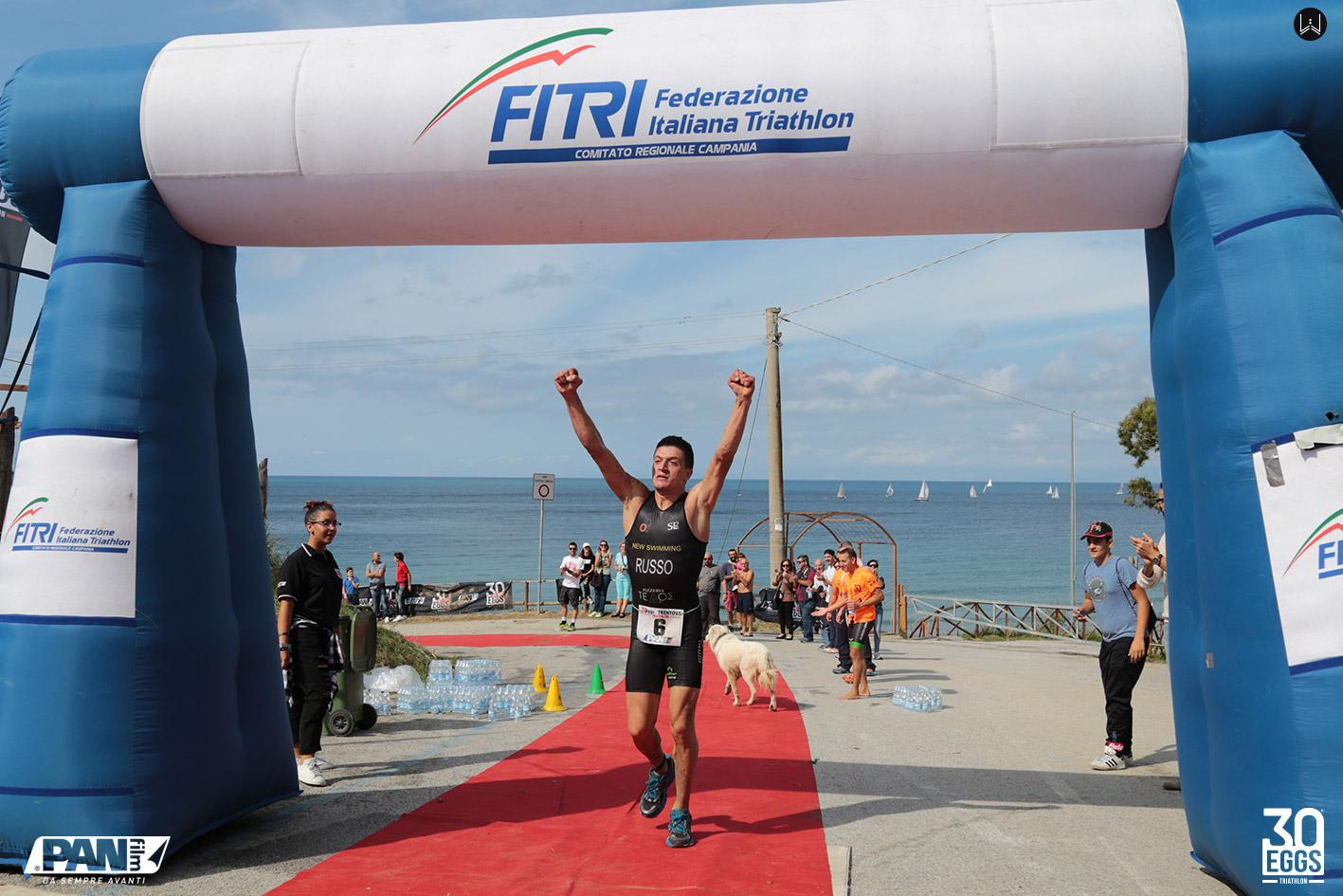 Vincitore Russo - 30EGGS Triathlon Cross Super Sprint